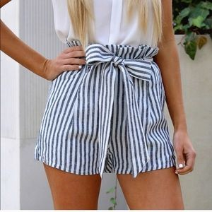 Bow High Waist Shorts